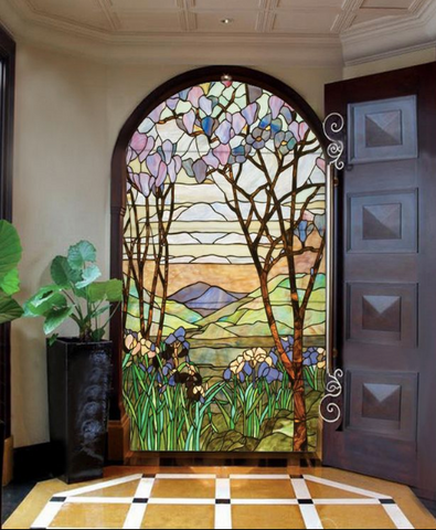 colour stained glass art