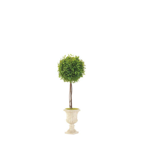 "19"" Topiary In White Planter"