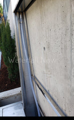Custom WaterWall Components - Natural stone, slab, brick, or tile - 316 brushed stainless steel