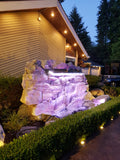 Artificial Rock Waterfall - LED Spillway #cf000070