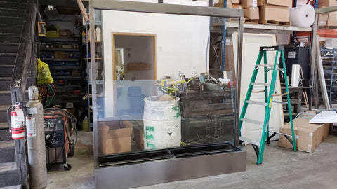 Custom Partition Glass Waterfalls - Call For Special Price 888-832-2242
