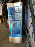 LED Bubble Wall - Brushed Stainless Steel - 4 feet tall x 1.5 feet wide