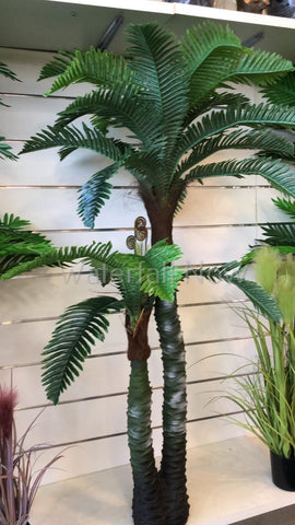 2 Trunk Palm - Artificial Silk Plant