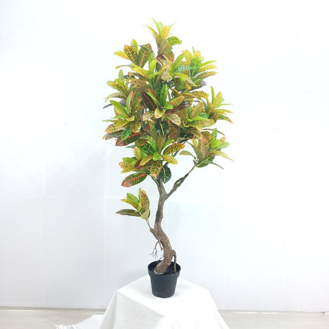 Artificial Silk Codiaeum Variegatum Tree