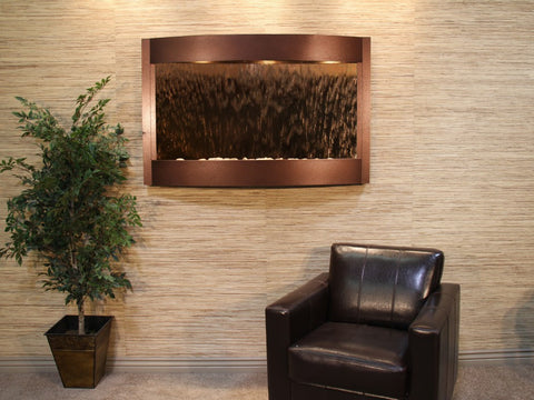 Wall Fountain - Calming Waters - Bronze Mirror - Copper Vein - cwa5041