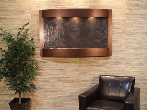 Wall Fountain - Calming Waters - Multi-Color FeatherStone - Copper Vein - cwa5014