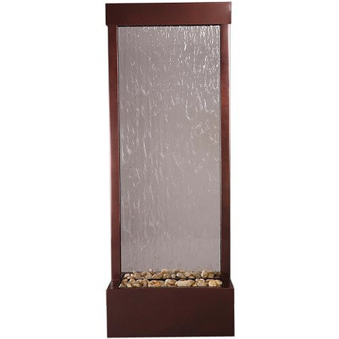 "4 Ft Floor Fountain Dark Copper Clear Glass 18"" W x 48"" H x 12"" D - GF4WG"