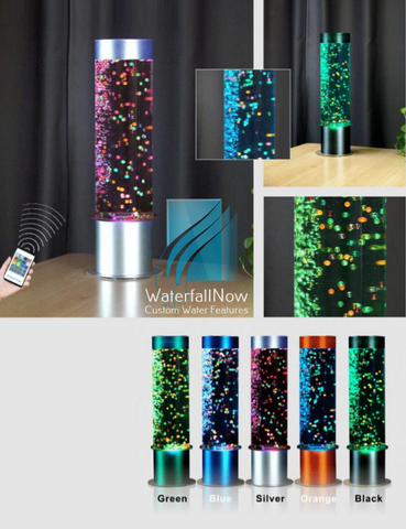 Sensory Bubble Walls - Desktop Bubble Lamp - Metal Beads - dbwc32s