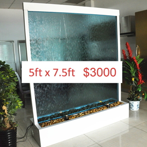 5 x 7.5 Partition Glass Floor Fountain (Custom Made)