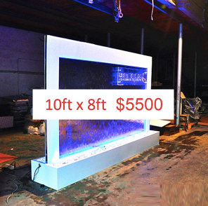 10 x 5 Partition Glass Floor Fountain (Custom Made)