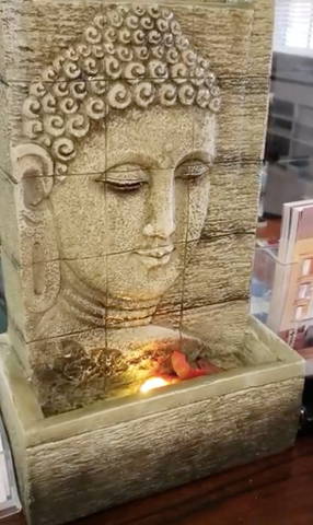 buddha polyresin fountain