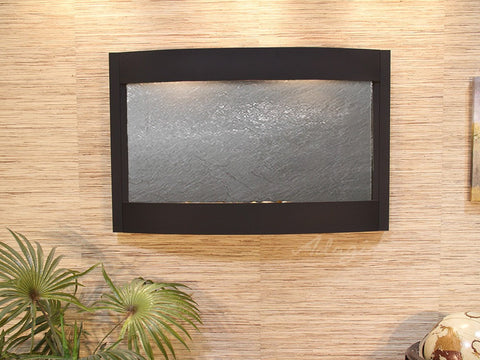 Wall Fountain - Calming Waters - Black FeatherStone - Textured Black - cwa1711