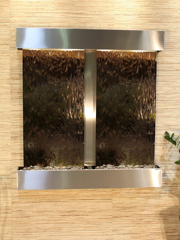 Wall Fountain - Aspen Falls - Bronze Mirror - Stainless Steel - Squared - afs2041