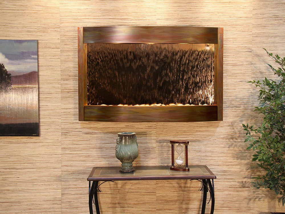 Wall Fountain - Calming Waters - Bronze Mirror - Rustic Copper - cwa1041