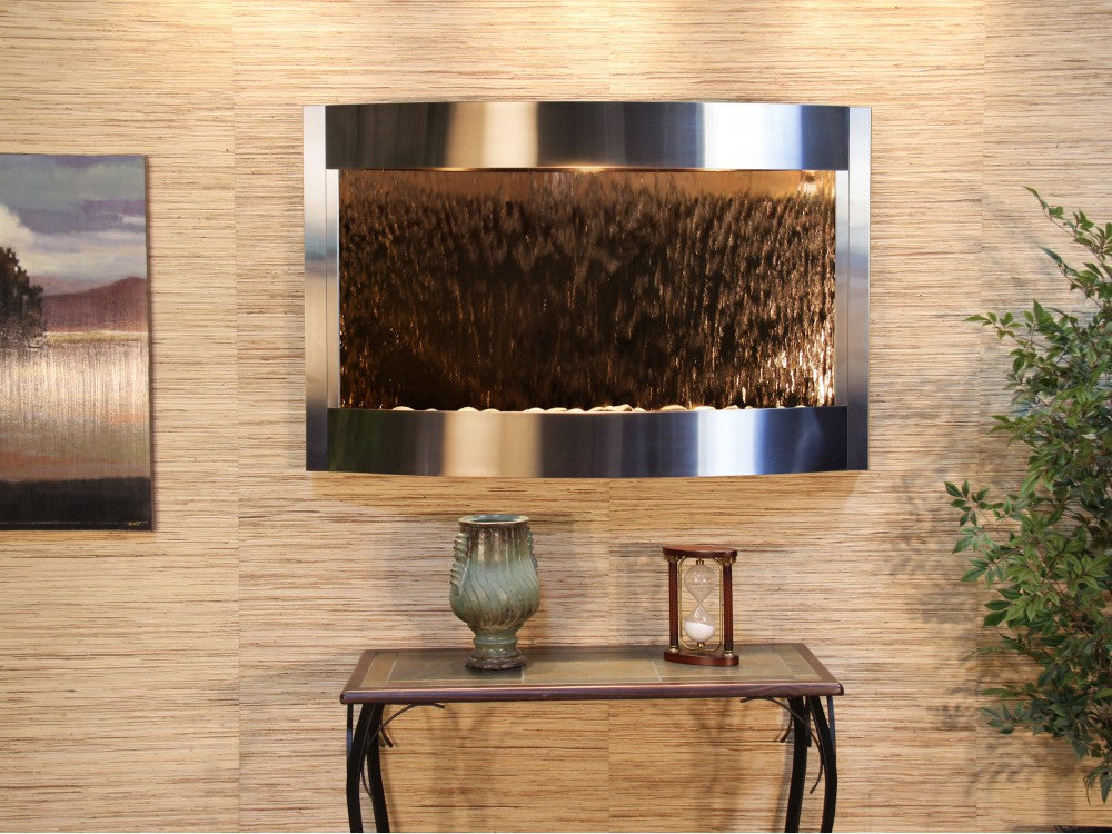 Wall Fountain - Calming Waters - Bronze Mirror - Stainless Steel - cwa2041