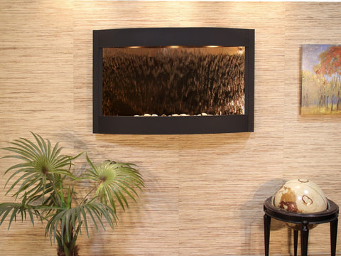 Wall Fountain - Calming Waters - Bronze Mirror - Textured Black - cwa1741