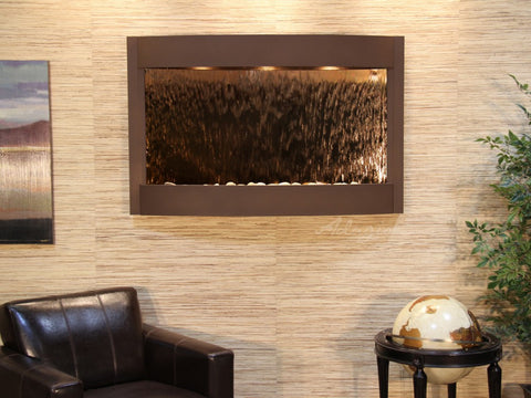 Wall Fountain - Calming Waters - Bronze Mirror - Woodland Brown - cwa3741