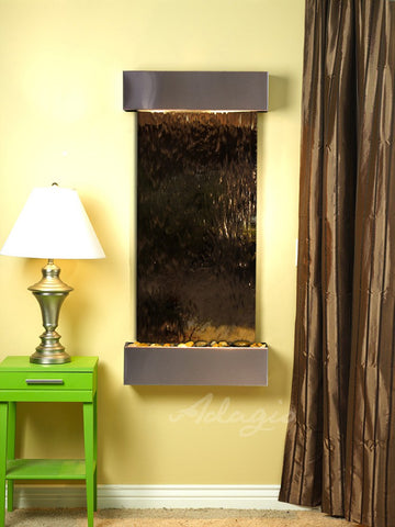 Wall Fountain - Cascade Springs - Bronze Mirror - Stainless Steel - Squared - css2041