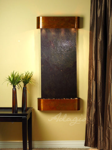 Wall Fountain - Cascade Springs - Multi-Color FeatherStone - Rustic Copper - Rounded - csr1014