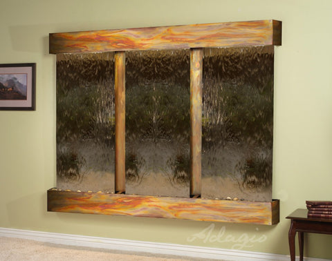 Wall Fountain - Deep Creek - Bronze Mirror - Rustic Copper - Squared - dcs1041