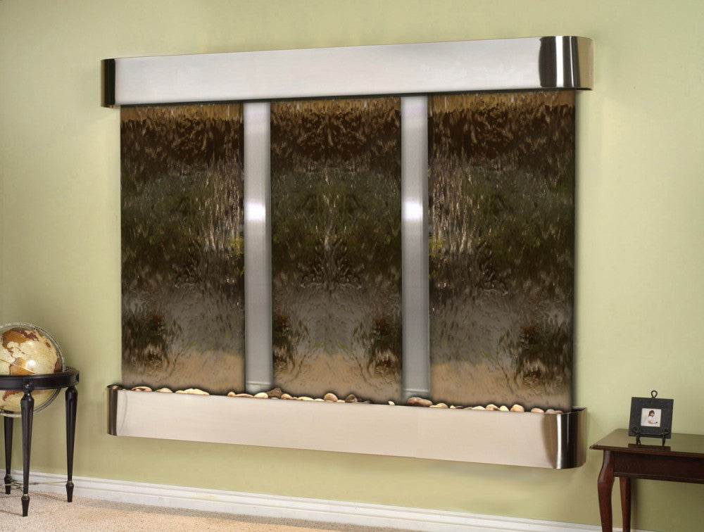Wall Fountain - Deep Creek - Bronze Mirror - Stainless Steel - Rounded - dcr2041