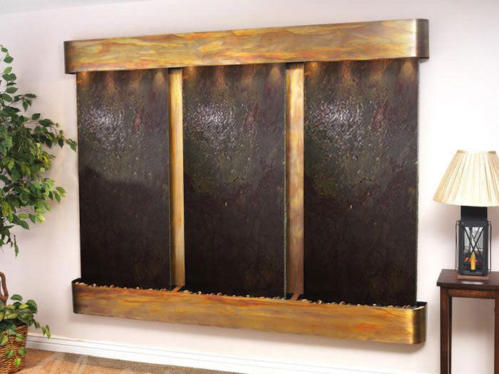 Wall Fountain - Deep Creek - Multi-Color FeatherStone - Rustic Copper - Rounded - dcfr1014__47575