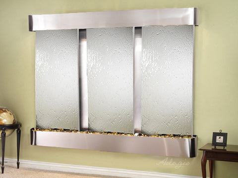 Wall Fountain - Deep Creek - Silver Mirror - Stainless Steel - Rounded - dcr2040_1