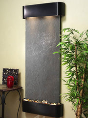 Wall Fountain - Inspiration Falls - Black FeatherStone - Blackened Copper - Rounded - ifr1511__44097b