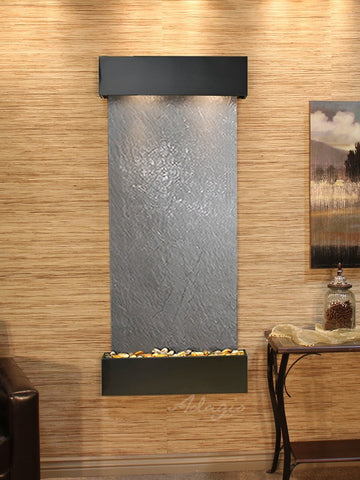 Wall Fountain - Inspiration Falls - Black FeatherStone - Blackened Copper - Squared - ifs1511_1