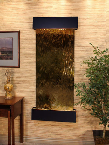 Wall Fountain - Inspiration Falls - Bronze Mirror - Blackened Copper - Squared - ifs1541