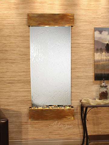 Wall Fountain - Inspiration Falls - Silver Mirror - Rustic Copper - Squared - ifs1040_1