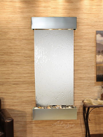 Wall Fountain - Inspiration Falls - Silver Mirror - Stainless Steel - Squared - ifs2040_1