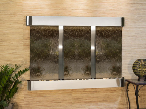 Wall Fountain - Olympus Falls - Bronze Mirror - Stainless Steel - Rounded - ofr2041