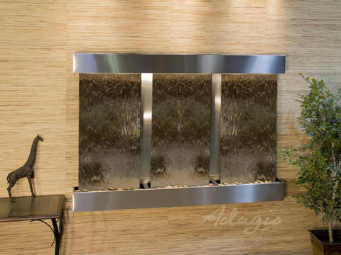 Wall Fountain - Olympus Falls - Bronze Mirror - Stainless Steel - Squared - ofs2041
