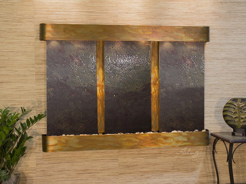 Wall Fountain - Olympus Falls - Multi-Color FeatherStone - Rustic Copper - Rounded - ofr1014