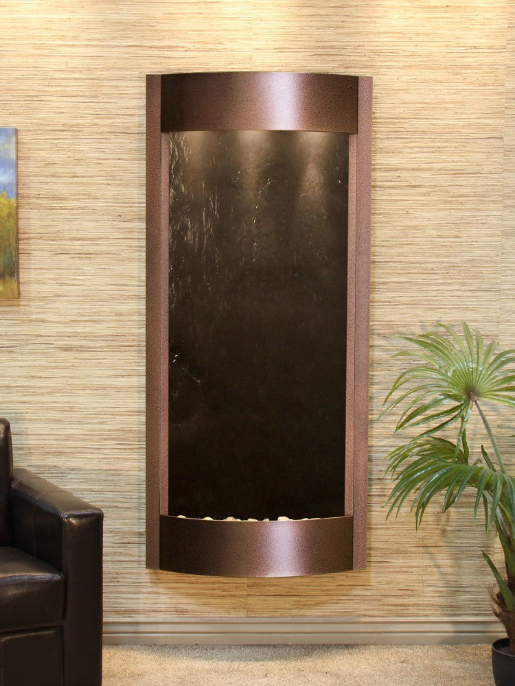 Wall Fountain - Pacifica Waters - Black FeatherStone - Copper Vein - pwa5011