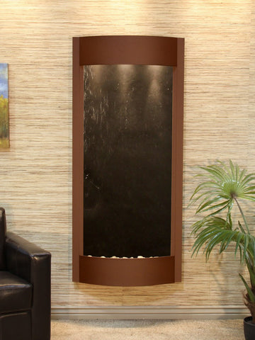 Wall Fountain - Pacifica Waters - Black FeatherStone - Woodland Brown - pwa3711
