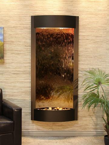 Wall Fountain - Pacifica Waters - Bronze Mirror - Antique Bronze - pwa3541