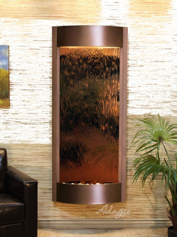 Wall Fountain - Pacifica Waters - Bronze Mirror - Copper Vein - pwa5041b