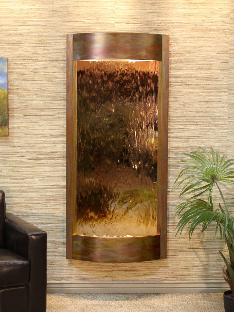 Wall Fountain - Pacifica Waters - Bronze Mirror - Rustic Copper - pwa1041