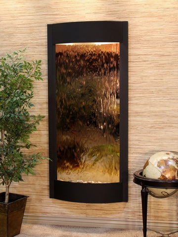 Wall Fountain - Pacifica Waters - Bronze Mirror - Textured Black - pwa1741