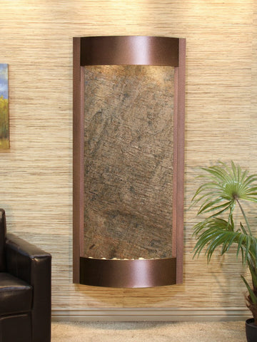 Wall Fountain - Pacifica Waters - Green FeatherStone - Copper Vein - pwa5012