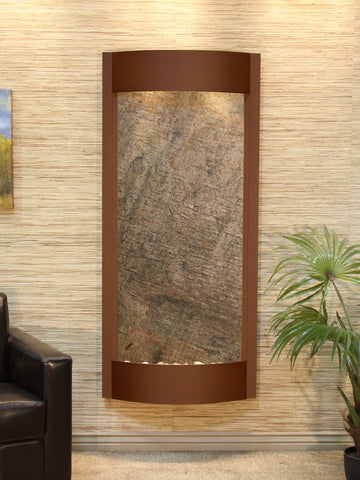 Wall Fountain - Pacifica Waters - Green FeatherStone - Woodland Brown - pwa3712