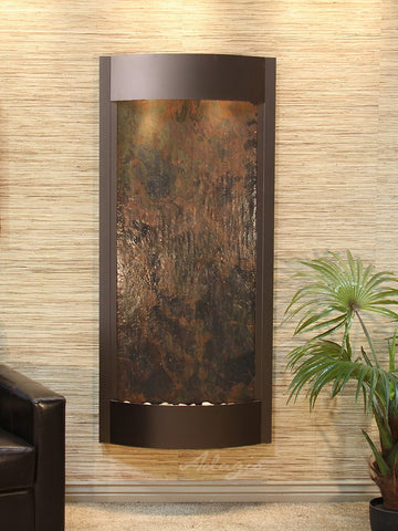 Wall Fountain - Pacifica Waters - Multi-Color FeatherStone - Antique Bronze - pwa3514