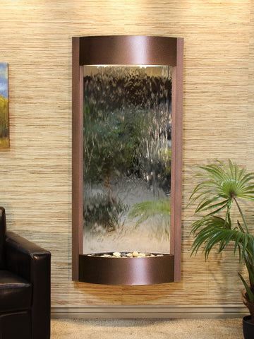 Wall Fountain - Pacifica Waters - Silver Mirror - Copper Vein - pwa5040