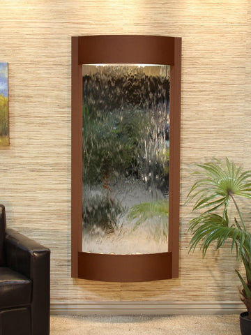 Wall Fountain - Pacifica Waters - Silver Mirror - Woodland Brown - pwa3740