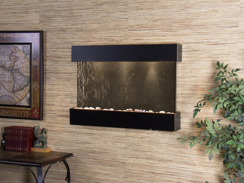 Wall Fountain - Reflection Creek - Black FeatherStone - Blackened Copper - rcs1511
