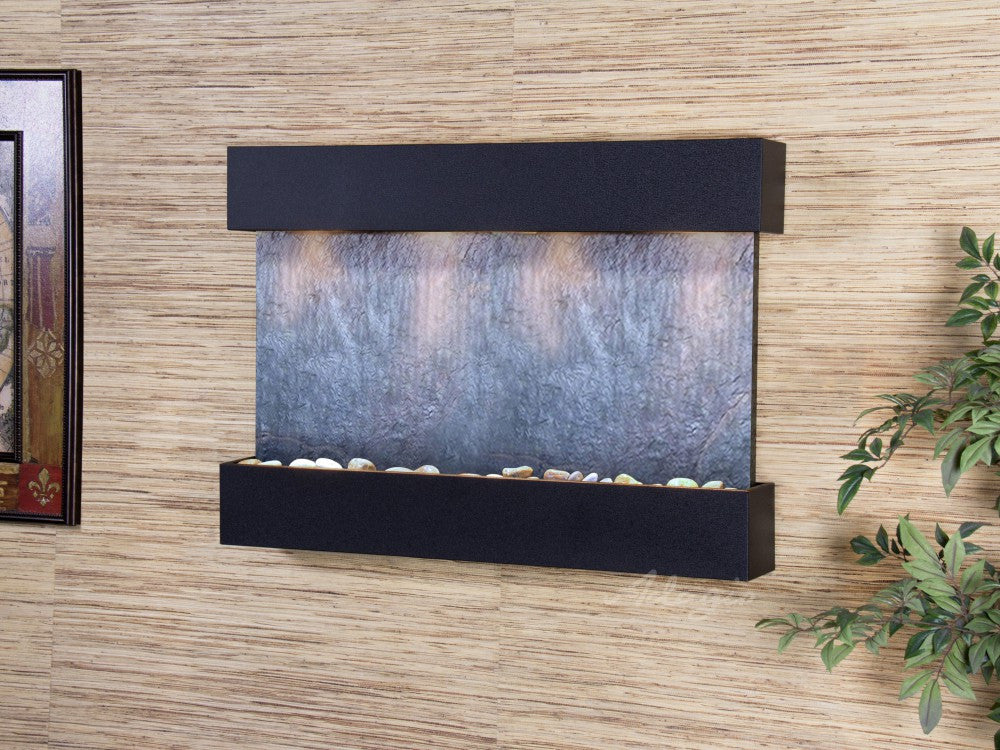 Wall Fountain - Reflection Creek - Black FeatherStone - Textured Black - rcs1711