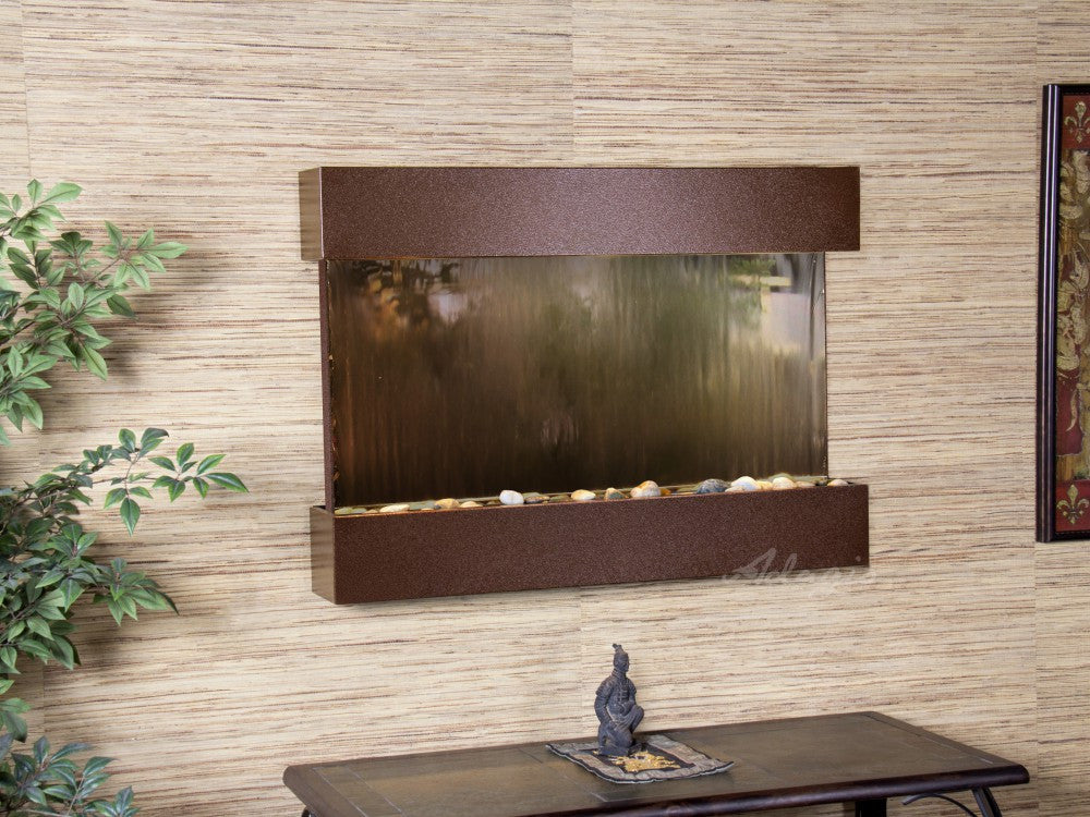 Wall Fountain - Reflection Creek - Bronze Mirror - Copper Vein - rcs5041