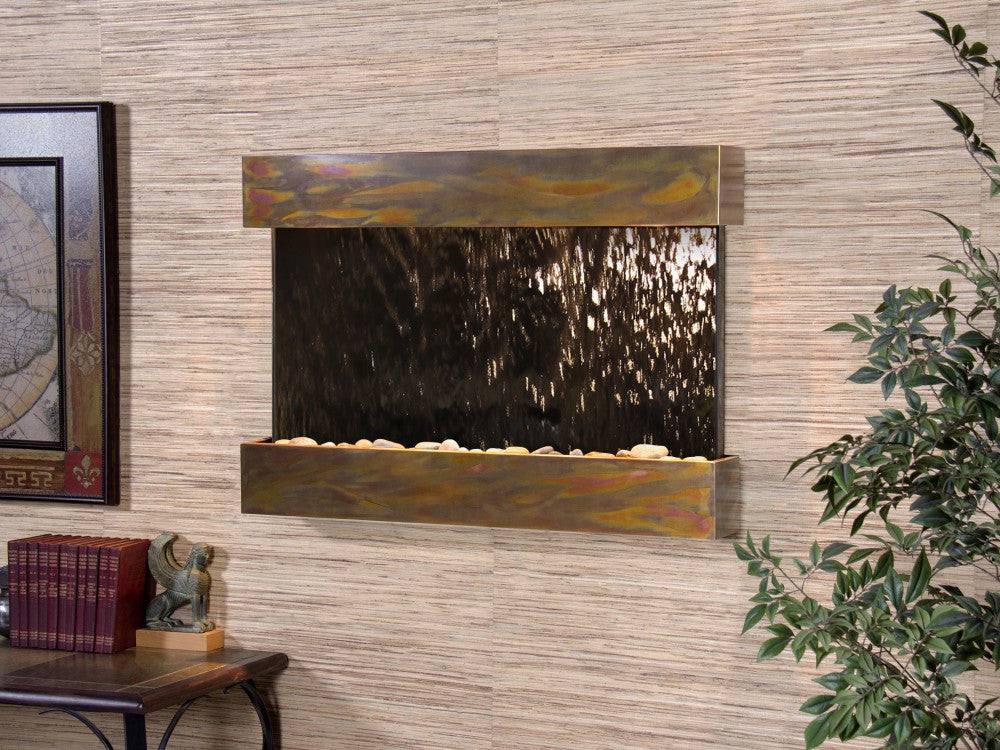Wall Fountain - Reflection Creek - Bronze Mirror - Rustic Copper - rcs1041